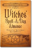 2004 Spell-A-Day Almanac For Witches. Inside you'll find page after page of spells, rituals, meditations, and more, including: Auspicious days-Daily Moon signs and phases, and daily colors and incense-Tips on how to add star power to your spells, Seasonal recipes, Rites and rituals - Spells for love, money, beauty, travel, communications, health, and home. You can live a charmed life every day with this compendium of magical goodies. Explore pages of rituals, meditations, and more for every day of the year.